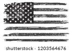 grunge american flag.vector... | Shutterstock .eps vector #1203564676
