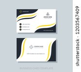 creative business card template ... | Shutterstock .eps vector #1203567409