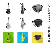vector design of music and tune ... | Shutterstock .eps vector #1203570409