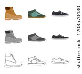 isolated object of shoe and... | Shutterstock .eps vector #1203570430