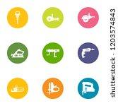 effort icons set. flat set of 9 ... | Shutterstock .eps vector #1203574843