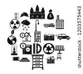 higher society icons set.... | Shutterstock .eps vector #1203575443