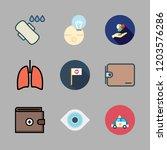 problem icon set. vector set... | Shutterstock .eps vector #1203576286