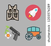 army icon set. vector set about ... | Shutterstock .eps vector #1203576289