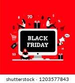 black friday. modern flat...   Shutterstock .eps vector #1203577843