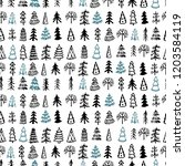 graphic doodle pattern with...   Shutterstock .eps vector #1203584119