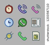 dial icon set. vector set about ... | Shutterstock .eps vector #1203587110