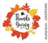 thanksgiving holiday print ... | Shutterstock .eps vector #1203592450