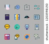 hand icon set. vector set about ... | Shutterstock .eps vector #1203598150