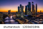 moscow city skyscraper  moscow... | Shutterstock . vector #1203601846