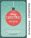 merry christmas card on a... | Shutterstock .eps vector #1203605506