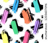 seamless pattern with colorful... | Shutterstock .eps vector #1203607096