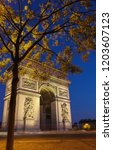 the triumphal arch is one of... | Shutterstock . vector #1203607123
