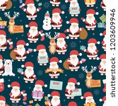 christmas seamless pattern with ... | Shutterstock .eps vector #1203609946