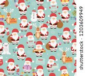 christmas seamless pattern with ... | Shutterstock .eps vector #1203609949