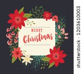 typographic merry christmas... | Shutterstock .eps vector #1203610003