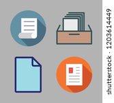 bureaucracy icon set. vector... | Shutterstock .eps vector #1203614449