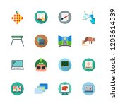 gray icon set. vector set about ... | Shutterstock .eps vector #1203614539