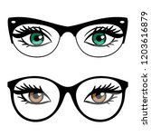 female eyes and business style... | Shutterstock .eps vector #1203616879