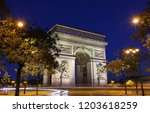 the triumphal arch is one of... | Shutterstock . vector #1203618259