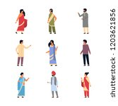 set different indian people... | Shutterstock .eps vector #1203621856