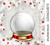 christmas background with white ...   Shutterstock .eps vector #1203622873