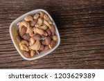 A Snack Bowl Of Mixed Nuts...
