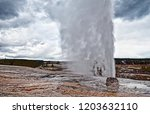 beehive geyser eruption at...   Shutterstock . vector #1203632110