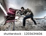 the kurdish group that fights... | Shutterstock . vector #1203634606