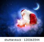 santa with beard and red hat... | Shutterstock . vector #120363544