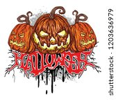 halloween t shirt design with... | Shutterstock .eps vector #1203636979