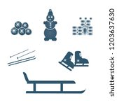 winter holidays icons set....   Shutterstock .eps vector #1203637630