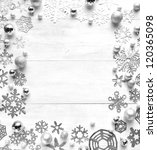 paper cutouts of snowflakes.b w | Shutterstock . vector #120365098