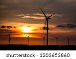 wind energy. wind turbines or... | Shutterstock . vector #1203653860
