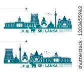 sri lanka travel destination... | Shutterstock .eps vector #1203655963