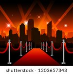 now showing theater movie... | Shutterstock .eps vector #1203657343