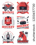 ice hockey sport game vector... | Shutterstock .eps vector #1203657730
