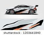 sport car racing wrap design.... | Shutterstock .eps vector #1203661840