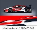 sport car racing wrap design.... | Shutterstock .eps vector #1203661843