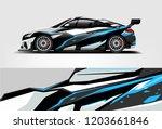 sport car racing wrap design.... | Shutterstock .eps vector #1203661846