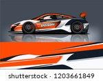 sport car racing wrap design.... | Shutterstock .eps vector #1203661849