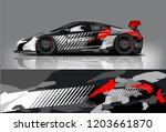 sport car racing wrap design.... | Shutterstock .eps vector #1203661870