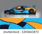 sport car racing wrap design.... | Shutterstock .eps vector #1203661873