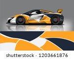 sport car racing wrap design.... | Shutterstock .eps vector #1203661876