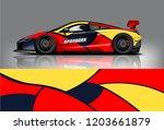 sport car racing wrap design.... | Shutterstock .eps vector #1203661879