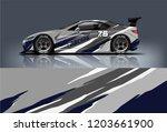 sport car racing wrap design.... | Shutterstock .eps vector #1203661900