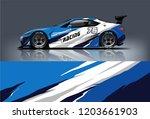 sport car racing wrap design.... | Shutterstock .eps vector #1203661903