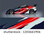 sport car racing wrap design.... | Shutterstock .eps vector #1203661906