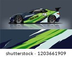 sport car racing wrap design.... | Shutterstock .eps vector #1203661909