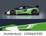 sport car racing wrap design.... | Shutterstock .eps vector #1203661930
